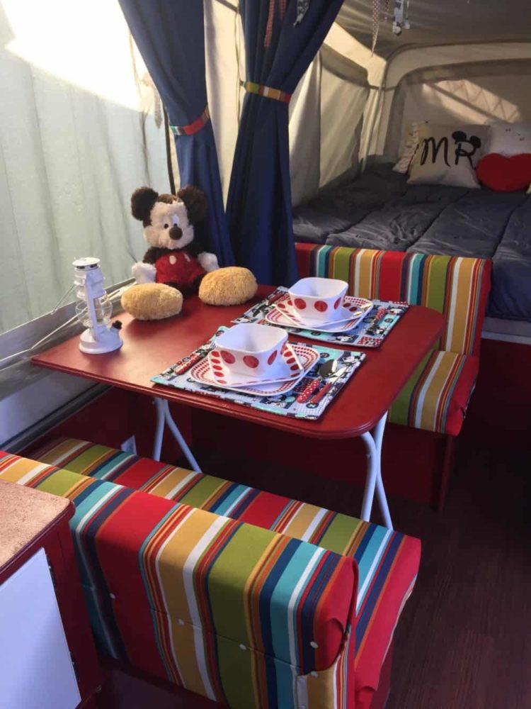 disney pop up camper remodel - after